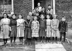 1909 & 10 Northfield students at Old Town Hall