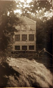 Brandywine Falls & Champion Electric Co.  Taken approx. 2 weeks before Bldg burned - 1937 (Photo by David C. Thomas)