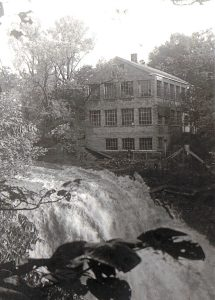 Brandywine Falls power plant two weeks  before it burned in 1937.  The ruins are what you see today.