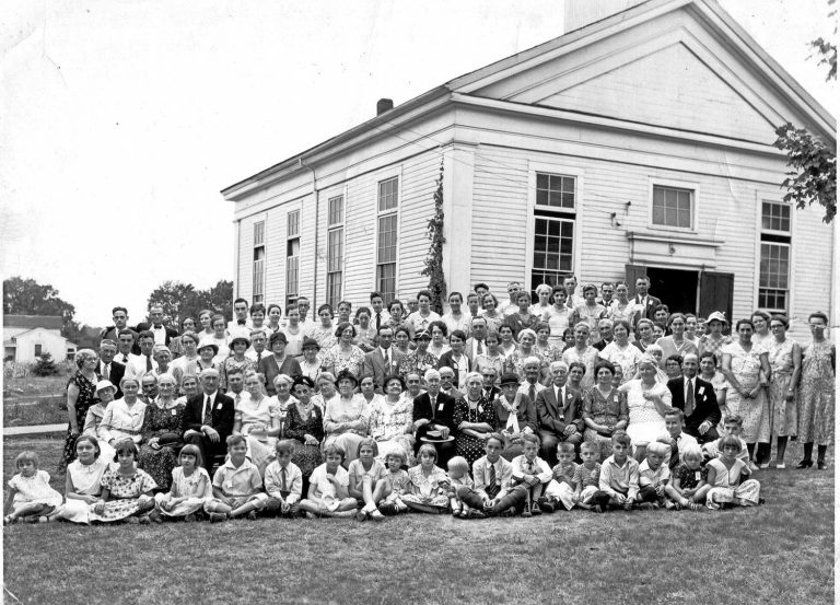 Federated Church whose original members descended from Scotland, as did the United Presbyterian congregation. It became known as the Church on the Park.  Building moved to Rt 82 and S. Boyden in 1963,