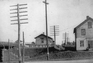 Macedonia C&P Railroad station - ca. 1916