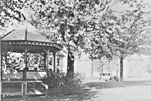 Northfield  Center looking North West just behind the gazebo - around 1918
