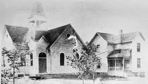 M.E. Church & Parsonage in Macedonia - built 1891 both burned 1910