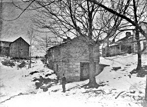 Spring House - Running Water all Year - Location unknown.  If you know, please let us know at Palmer-House@hson.info