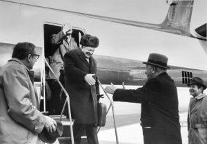 USSR Minister of Agriculture arrives for Acadia visit 12-23-1971