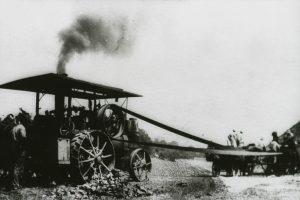 Wheat Threshing Machine Working