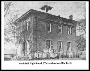 Northfield High School - Twin schools were built in Northfield on Olde Rt. 8 and in Macedonia on Valley View Road