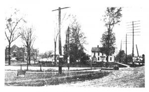 Early image of Northfield Center looking West from Rt. 82. towards the town hall.